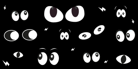 spooky eyes: Spooky eyes glowing in the dark background