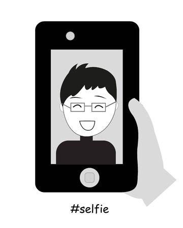 snaps: Man taking a self-portrait