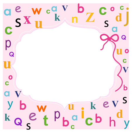school frame: Back to school frame with letters