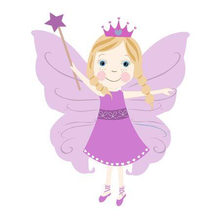 Cute fairytale vector puple