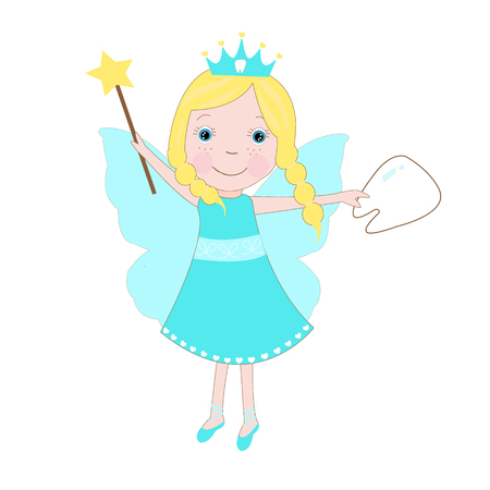 blue tooth: Cute Tooth Fairy