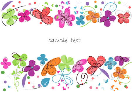 design: Colorful floral abstract background decorative flower vector Illustration