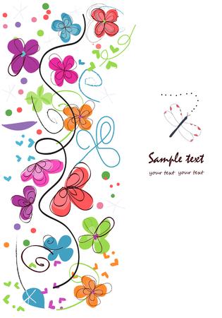 Kleurrijke abstracte vector decoratieve bloemen als achtergrond