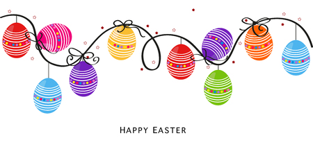 Colorful Easter Design Easter background vector Egss Ilustração