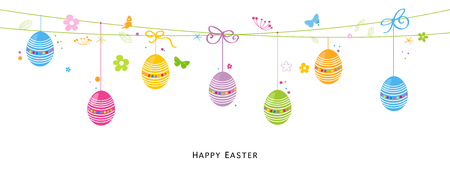 april beautiful: Egss colorful easter background vector