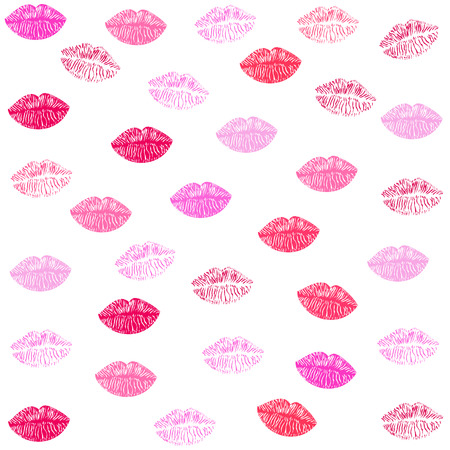 romantic sexy couple: Kiss and lips textile pattern vector background