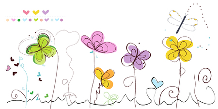 greeting card background: Abstract spring floral greeting card vector background