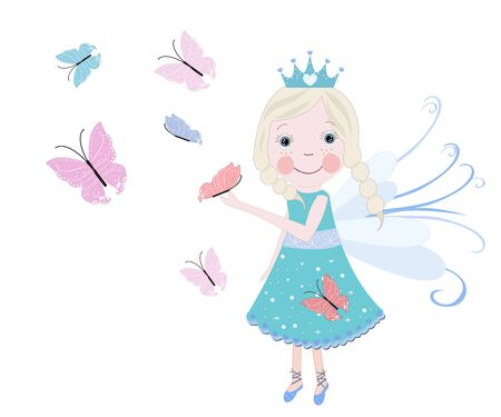 Cute fairy tale with butterfly