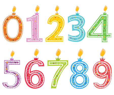 wastage: Happy birthday candle. Numbered birthday candles vector