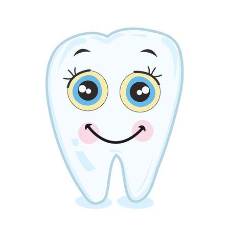 歯を笑っています。歯のベクトル  イラスト・ベクター素材