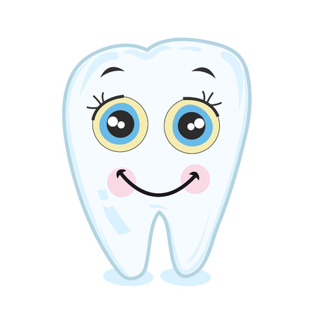 웃는 치아. 치아 벡터