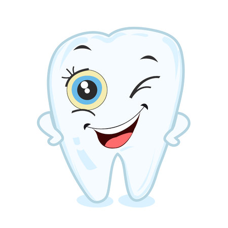 for boys: First baby tooth for boys and girls. Tooth party vector