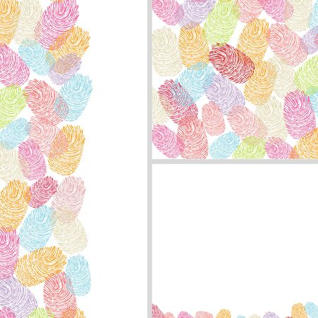 finger prints: Colorful finger prints illustration Illustration