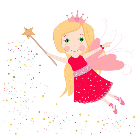 Cute red fairy tale vector Vectores