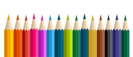 Zurück in der Schule mit Doodle Kinder und bunten Buchstaben Vektor-Illustration Vektorgrafik