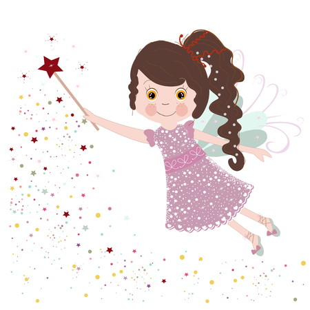 Cute little fairy tale vector illustration