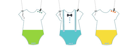 Baby shower invitation. Bow tie and baby boy symbol baby body greeting card Illustration