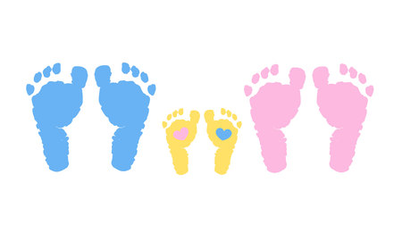 Baby family vector background. Pregnancy, mother, father and baby