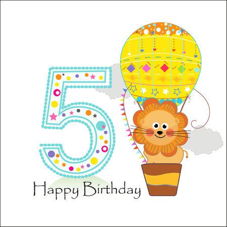 Sign In Happy birthday greeting card Ilustración de vector