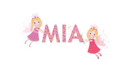 Mia female name with cute fairy tale