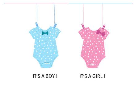 Baby Baby girl body. Baby gender reveal Illustration