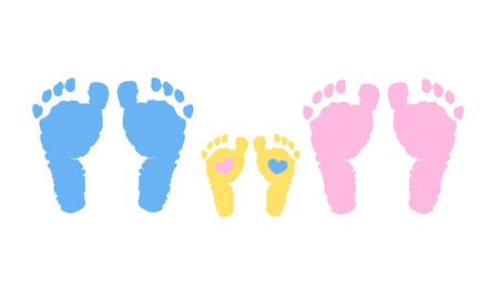 Fondo de vector de familia de bebé. Embarazo, madre, padre y bebé