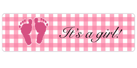 Baby shower card. Its a girl