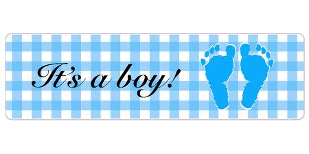 Baby shower card. Its a boy