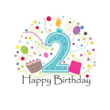 Happy birthday candles vector illustration