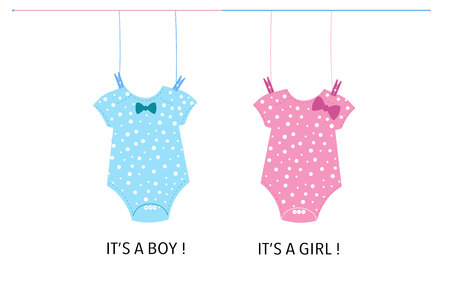 Baby Baby girl body. Baby gender reveal Stock Vector - 112533301