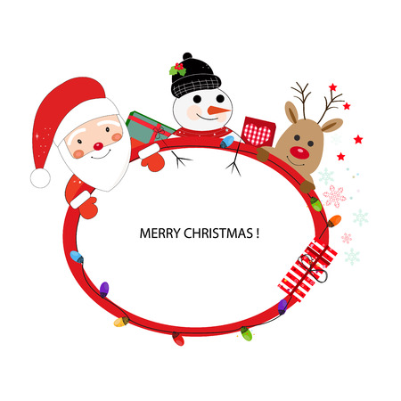 Santa Claus Happy New Year card  イラスト・ベクター素材
