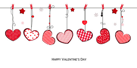 Valentine's Day card with hearts Valentine's Day card with hearts