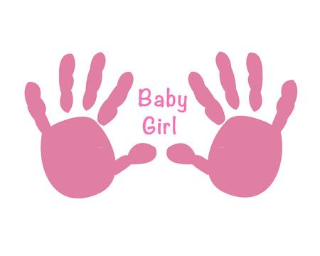 Baby girl hand prints