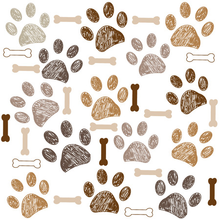 Brown colored paw print