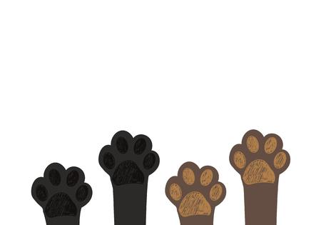 Cute dog & cat paw prints. Brown paw prints, Black paw prints Stockfoto - 112533094