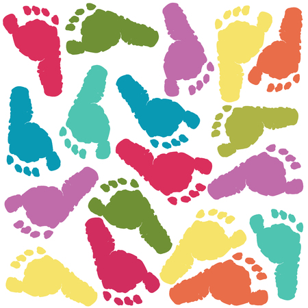 Baby foot prints 일러스트