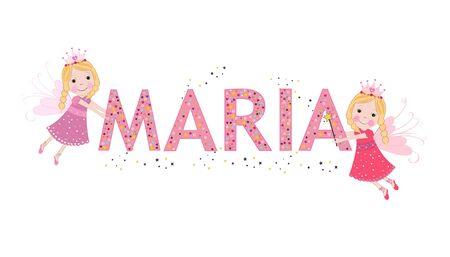 Maria female name with cute fairy tale