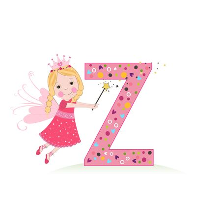 Z letter with a cute fairy tale