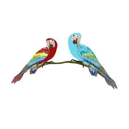 Parrot bird hand drawn isolated illustration Illustration