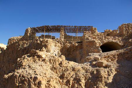 judaic: Ruins of ancient judaic Masada fortress, Israel