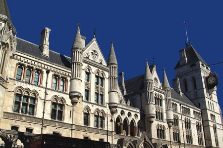 View on the Royal Courts of Justice, London