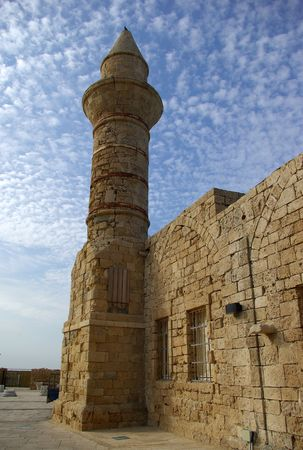 Beacon at Ceasarea, ancient Roman capital and port, Israel