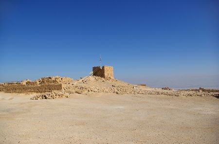 hebrews: Ruins of ancient judaic Masada fortress, Israel