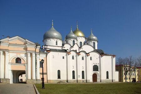 St. Sophia Cathedral at Novgorod Kremlin, Russia photo