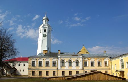 Clock Tower at Kremlin of Novgorod the Great, Russia Stock Photo - 6997042