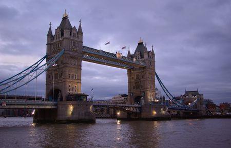 View on Tower Bridge in twilight. London photo