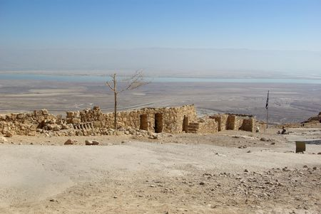 hebrews: View on Dead sea from fortress Masada, Israel