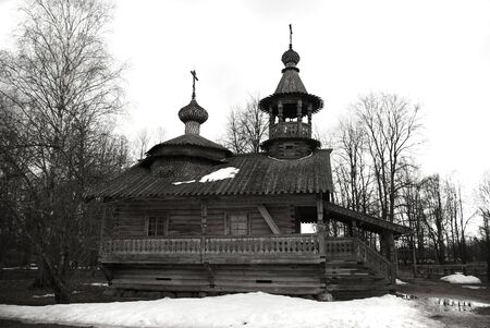 Old wooden church at Novgorod the Great, Russia photo