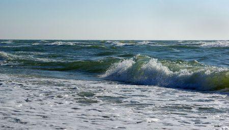 enviro: Sea waves runing on the beach of Baltic sea
