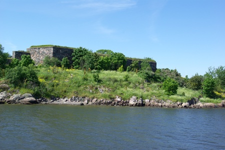 View on fortress Suomenlinna from sea, Finland photo